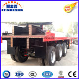 China 40feet 3axles Platform Container Cargo Truck Tractor Semi Trailer