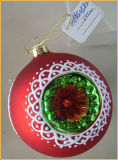 Red Christmas Glass Ball with Hole for Christmas Tree Decoration