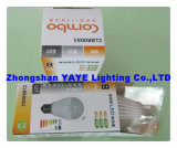 Yaye CE/RoHS Approval Top Sell E27 SMD 7W LED Bulb/E27 LED Bulb Lamp with USD3.62/PC (YAYE-GDLB7WA)