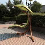 Outdoor Patio Hanging Swing Chair with Wood Frame