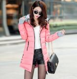 Women Winter Hooded Warm Candy Color Cotton Padded Jackets