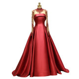 Ball Gown Luxury Royal Style King Style Court Train High Neck Long Sleeve Banquet Dress Party Dress Celebrity Dress