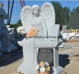 Western Style Granite Headstone Cheap Weeping Angel Monument with High Quality