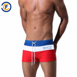 Oeko-Tex Full Waist Polyester Patterned Men Swimwear
