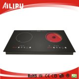 Hot Sale Built-in Two Burners Induction Cooker and Infrared Cooker with CB/Ce Certificate Model Sm-Dic12
