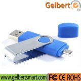 Custom Colourful OTG Swivel USB Flash Disk for Gift