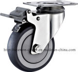 Stainless Steel Series - TPR Caster (Round Rim)