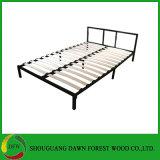 Folding Metallized Bed Frame Wooden Slat Bed for Bedroom Furniture