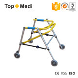 Topmedi Medical Health Foldable Aluminum Children Walker Walking Aids with Wheels