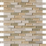 Irregular Natural Surface Wall Tile Beige Marble Stone Mosaic
