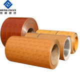 PE/PVDF Red Color Coated/Painted Wooden Prepainted Aluminum Alloy Coils/Sheet Curtain Wall Panel Acm & ACP Use