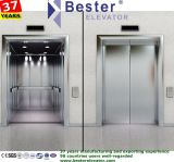 Concrete and Brick Shaft Passenger Lift with Hairline Stainless Steel Car Wall