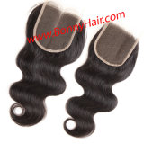 """4""""X4"""" Lace Closure, 100% Human Remy Hair Extension, Favorable Price, High Quality, Fast Delivery"""