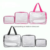 Fashion Transparent Waterproof Toiletrybag Wash Bathing Supplies Storage Women Cosmetic Bag (jp-bag 001)