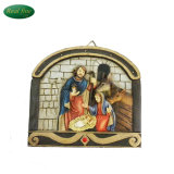 Hot Selling Holy Family Polyresin Figurine Wall Hanging Board