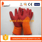 Ddsafety 2017 Orange T/C Shell with Red Latex Smooth Finished Glove
