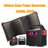 Portable Generator Lithium Battery Power Supply Charged by Solar Panel
