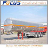 Price of Aluminum Alloy Steel Tank Truck Trailer with Manhole