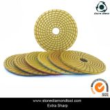 4 Inch Granite Spiral Diamond Flexible Resin Wet Polishing Pads