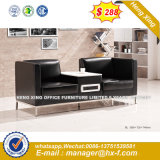 Modern Office Furniture Leather Sofa with Metal (HX-S30111)
