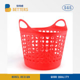 China Household Bathroom 3-Layer with Wheels PP Plastic Washing Clothes Laundry Basket Collapsible Plastic Laundry Basket