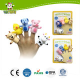 PVC Plastic Rubber Farm Animal Finger Puppet Toy