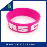 Competitive Price Custom Big Size Silicone Bracelet with Debossed Fill Print