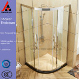 6mm 8mm Curved Tempered Glass Shower Enclosure