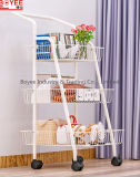 Multi Tier Metal Kitchen Trolley Vegetable Storage Shelf