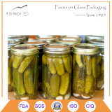 Cucumber Pickle Canning Jars with Lids