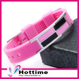Pink Silicone Bracelet for Women (CP-JS-DW-002)