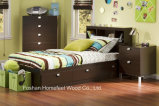 Wooden Kids 3 Pieces Bedroom Set with Bed, Header Board, Night Stand