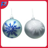 Glass Hanging Ball Ornament with Snowflake for Christmas Decorations