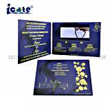 Romantic Luxurious Custom 5'' TFT LCD Video Brochure Wedding Invitation Card