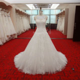 Sweetheart Neckline Beaded Bridal Dress and Pleats Bodice A Line Wedding Gown