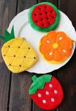 Novelty Fruit Design Choice - 10cm Plush Cotton Coin Purse & Wallet Pouch Case Bag; Keychain Pendant Storage Bag Pouch Handbag