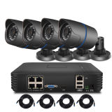 4CH 1080P NVR 1.0MP 15V Poe IP Camera P2p HDMI