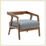 Modern Cafe Furniture Wooden Single Seat Cushion Sofa