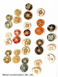 Clothing Accessories, High-Grade Metal Alloy Combination Buttons, Metal Resin Combination Buttons, Fashion Accessories, Used for Fashion Clothing.