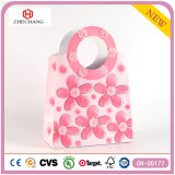 Wholesale Pink Flower Fashion Art Coated Gift Paper Bags