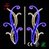 17 Year Factory Outdoor Giant Customized Christmas Festival Holiday Road Decorate 2D LED Pole Motif Lights