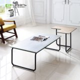 Glass Ceramic Top Coffee Table with Iron Frame