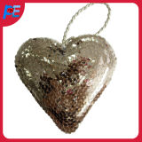 Glitter Heart Shaped Hanging for Party and Christmas Tree Decoration
