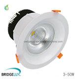 10W 15W 20W 30W 40W 50W Bridgelux Chip Recessed COB LED Ceiling Downlight