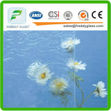 High Quality Amber Flora Colored Patterned Glass