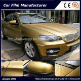 Gold 3D Carbon Fiber Vinyl Film - with Air Free Bubbles Car Film Vehicle Sticker