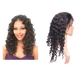 Brazilian Indian Human Factory Virgin Hair Removal Front / Full Lace Wig