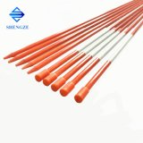 Diameter 3-50mm Flexible FRP Pultruded Profiles Sign Post GRP Round Snow Rod Stake Poles Fiberglass Products with Reflective Tape and Cap