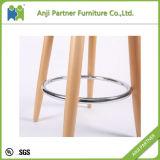 Modern Industrial Plastic High Bar Stools with Wooden Legs (FIREL)