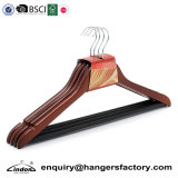 Audited Supplier Lindon Wholesale Mahogany Wooden Clothing Hangers